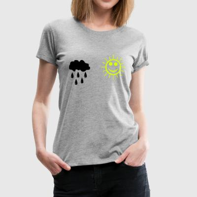 Rain and sunshine T-shirts - Dame premium T-shirt