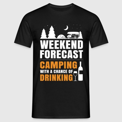 Camping With A Chance Of Drinking T-Shirts - Men's T-Shirt