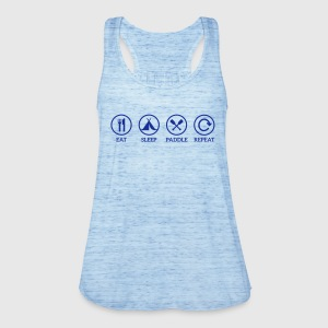 eat sleep paddle repeat Paddeln Kanu Kajak Spruch Tops - Frauen Tank Top von Bella