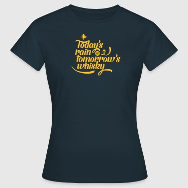 Todays's Rain Women's Tee - Quote to Front - Women's T-Shirt