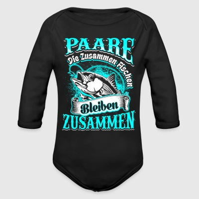 Fishing together couples Baby Bodysuits - Longsleeve Baby Bodysuit