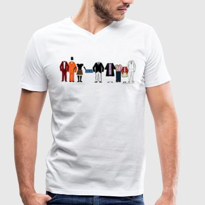 Arrested Development Bluth Family Lineup - Men's Organic V-Neck T-Shirt by Stanley & Stella