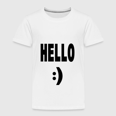 Hello  - Kinder Premium T-Shirt