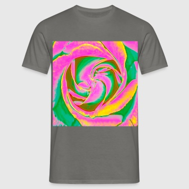 Psychedelic Rose - Men's T-Shirt