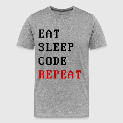 eat sleep code repeat T-Shirts - Männer Premium T-Shirt
