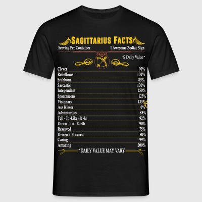Sagittarius Facts Zodiac T-Shirts - Men's T-Shirt