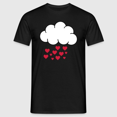 STAR PRICE RAINING LOVE  T-shirts - Mannen T-shirt