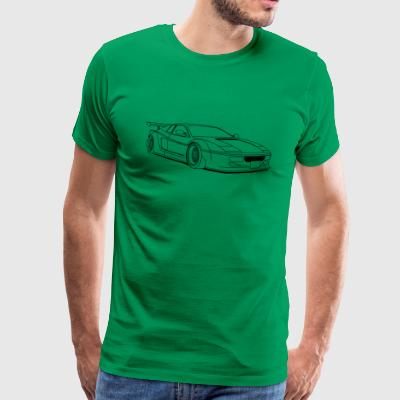 cool car outlines T-shirts - Premium-T-shirt herr