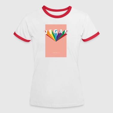 VEGAN Rainbow - Frauen Kontrast-T-Shirt