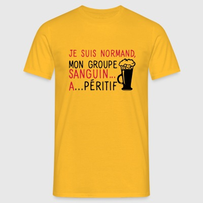 normand groupe sanguin a peritif citatio Tee shirts - T-shirt Homme