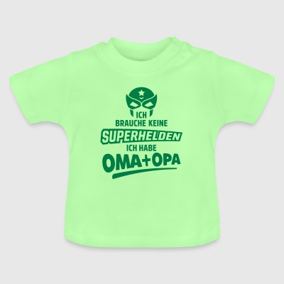 superhelden oma opa Baby T-Shirts - Baby T-Shirt