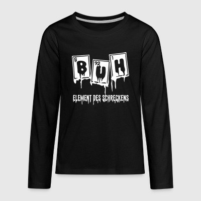 Halloween Buh Element Des Schreckens - Teenager Premium Langarmshirt