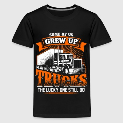 Grew Up - Trucker - EN T-shirts - Premium-T-shirt tonåring