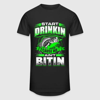 Start Drinkin - Fishing - EN T-shirts - Mannen Urban longshirt