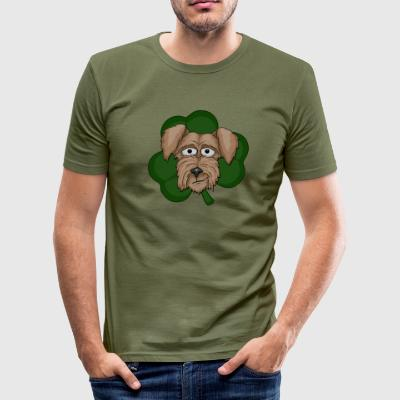 Irish Terrier Kleeblatt T-Shirts - Männer Slim Fit T-Shirt