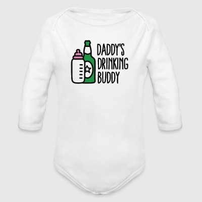 Daddy's drinking buddy Baby Bodys - Baby Bio-Langarm-Body