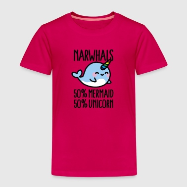 Narwhals 50% mermaid 50% unicorn Tee shirts - T-shirt Premium Enfant