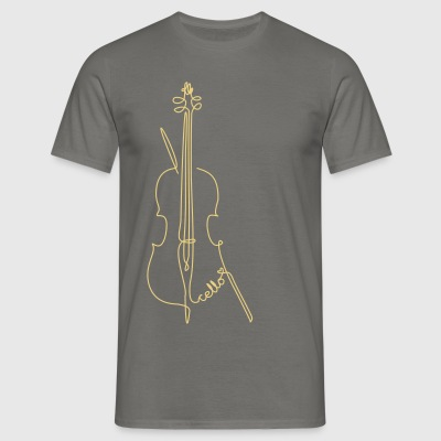 one line cello T-Shirts - Männer T-Shirt
