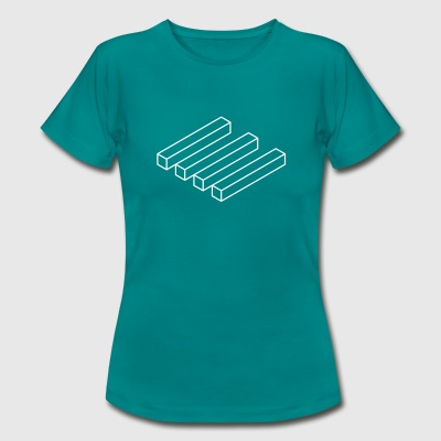 optical blocks T-Shirts - Frauen T-Shirt