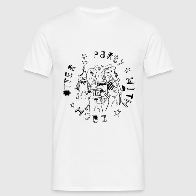 Party with each Otter - Schwarz Festivaldesign - Männer T-Shirt