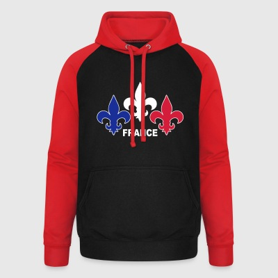 Fleurs de Lys Sweat-shirts - Sweat-shirt baseball unisexe