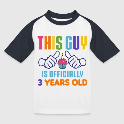 Officially 3 Years Old T-Shirts - Kinder Baseball T-Shirt