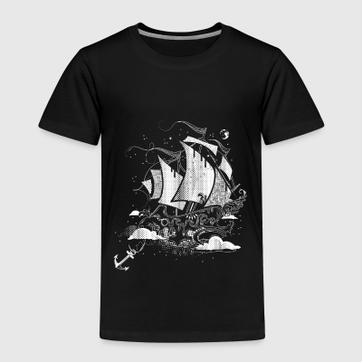 Sailing ship above the clouds Shirts - Kids' Premium T-Shirt