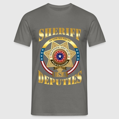 Sheriff - Sheriff - In God we trust. USA deputies - Men's T-Shirt