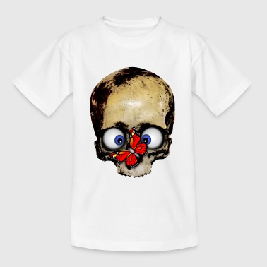 Totenkopf roter Schmetterling / skull butterfl T-Shirts - Teenager T-Shirt