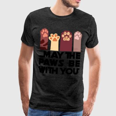 May the Paws be with you - Men's Premium T-Shirt