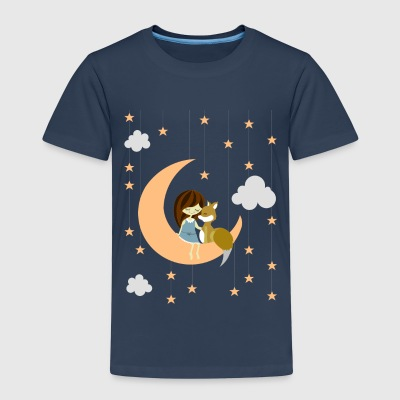 love me to the moon and back - Kinder Premium T-Shirt
