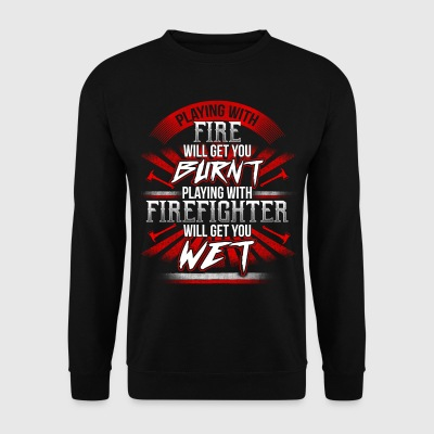 Playing with Firefighter  - EN Bluzy - Bluza męska