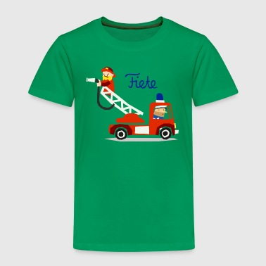 'Firefighter' Fiete Kids Shirt - green - Kinder Premium T-Shirt