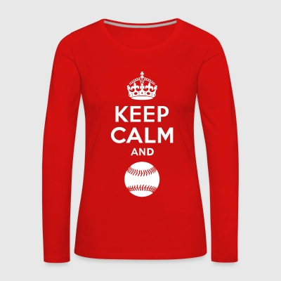 Keep Calm - Softball Long Sleeve Shirts - Women's Premium Longsleeve Shirt