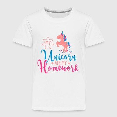My Unicorn ate my Homework Shirts - Kids' Premium T-Shirt