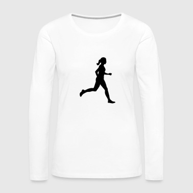 Running Woman, runner Manches longues - T-shirt manches longues Premium Femme