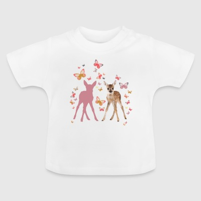 Animal Planet Rehkitz Und Schmetterlinge - Baby T-Shirt