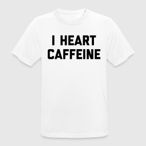 I Heart Caffeine Funny Quote Tee shirts - T-shirt respirant Homme