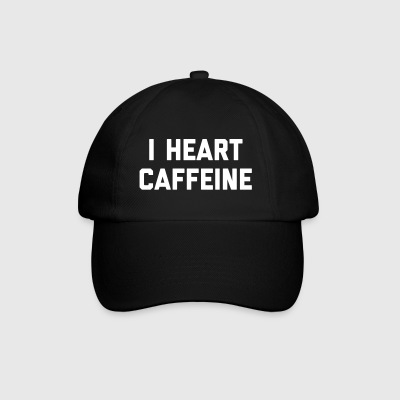 I Heart Caffeine Funny Quote Caps & Hats - Baseball Cap