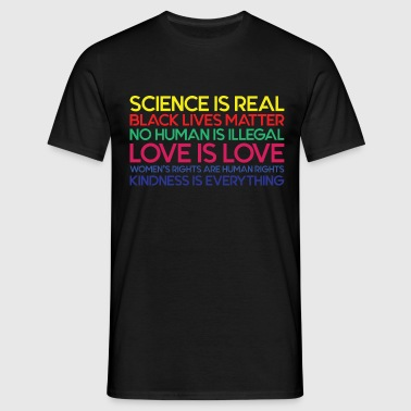 Anti Trump Science is Real Black Lives Matter T s T-Shirts - Men's T-Shirt