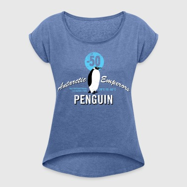 Animal Planet Emperor Penguin Facts - Women's T-shirt with rolled up sleeves