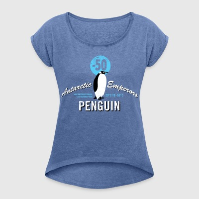 Animal Planet Kaiserpinguin Antarktis - Frauen T-Shirt mit gerollten Ärmeln