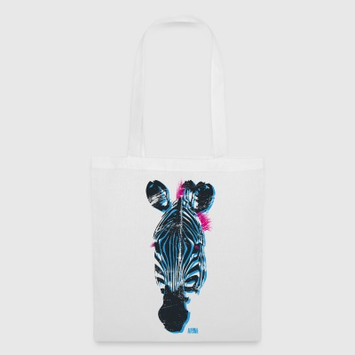 Animal Planet Colourful Zebra Head - Tote Bag