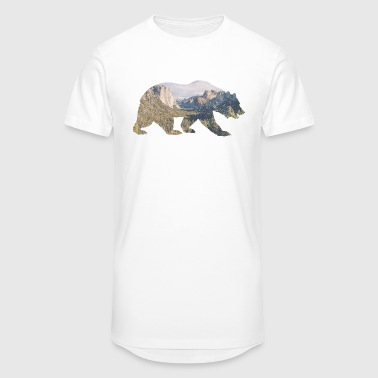 Rocky Mountains Bär T-Shirts - Männer Urban Longshirt