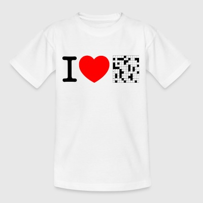 I love puzzles - crossword puzzle Shirts - Teenage T-shirt