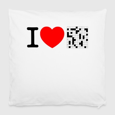 I love puzzles - crossword puzzle Other - Pillowcase 40 x 40 cm