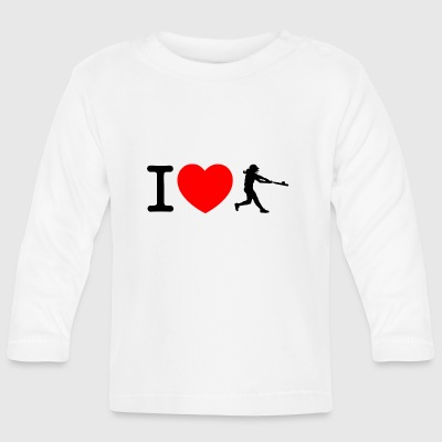 I love softball Baby Long Sleeve Shirts - Baby Long Sleeve T-Shirt
