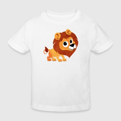 Watercolor lion - children - baby - animal - baby - child Shirts - Kids' Organic T-shirt
