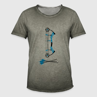 Compound Bow (Bow and Arrow) Bogen T-Shirts - Männer Vintage T-Shirt