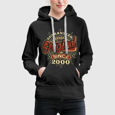 Birthday guaranteed since 2000 Pullover & Hoodies - Frauen Premium Hoodie